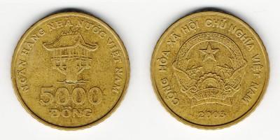 5000 донг 2003 года