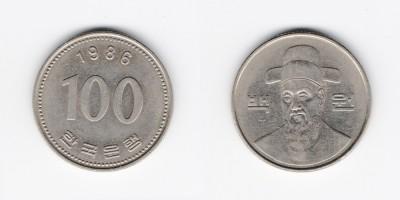 100 вон 1986 года