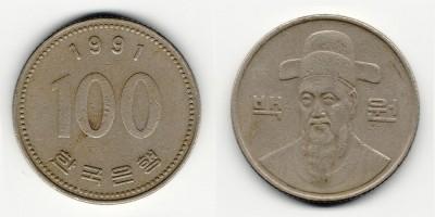 100 вон 1991 года