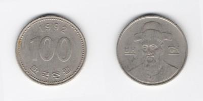 100 вон 1992 года