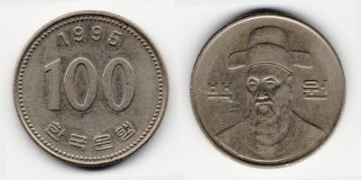 100 вон 1995 года