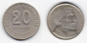20 сентаво 1950 года