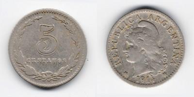 5 сентаво 1914 года