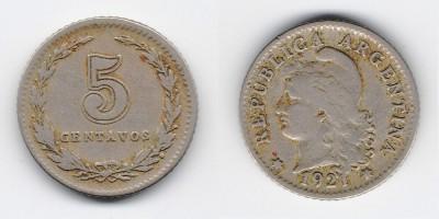 5 сентаво 1921 года