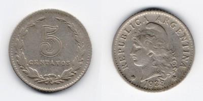 5 сентаво 1938 года