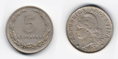 5 сентаво 1942 года