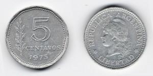 5 сентаво 1973 года