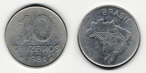 10 крузейро 1984 года