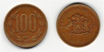 100 pesos 1986