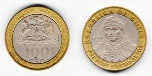 100 песо 2005 года