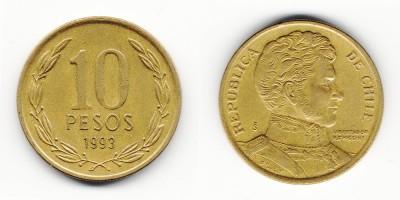 10 pesos 1993