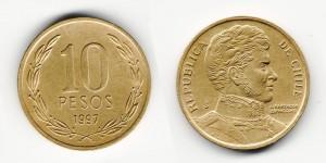 10 песо 1997 года