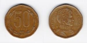 50 песо 1995 года