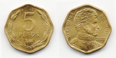 5 pesos 2000