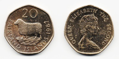 20 pence 1987