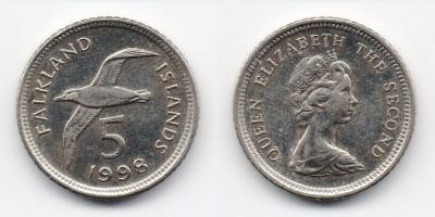 5 pence 1998