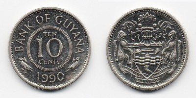 10 cents 1990