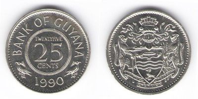 25 cents 1990