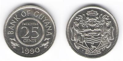 25 центов 1990 года