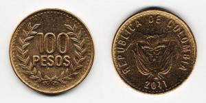 100 песо 2011 года