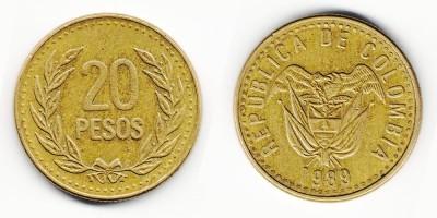 20 pesos 1989