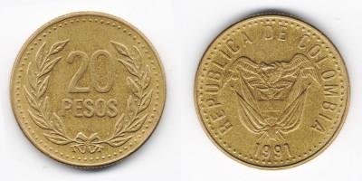20 pesos 1991