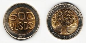 500 песо 2011 года