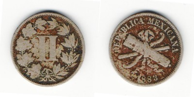 2 сентаво 1883 года