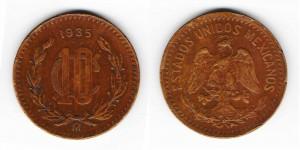 10 сентаво 1935 года