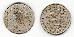 50 сентаво 1968 год