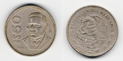50 песо 1985 года