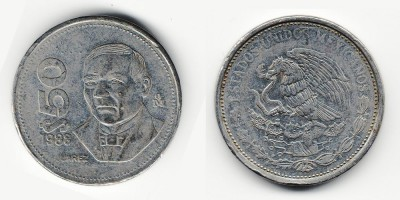 50 pesos 1988