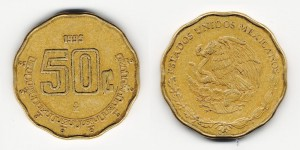 50 сентаво 1995 года