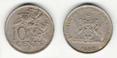 10 центов 1980 года