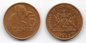 5 центов 1992 года