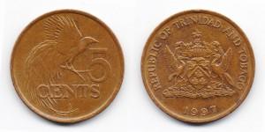 5 центов 1997 года