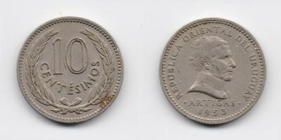 10 centésimos 1953