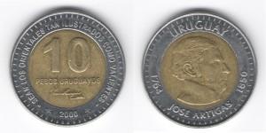 10 песо 2000 года