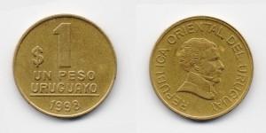 1 песо 1998 года