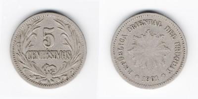 5 centésimos 1901