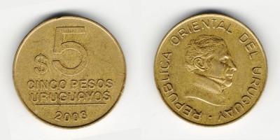 5 pesos 2003