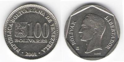 100 боливар 2001 года