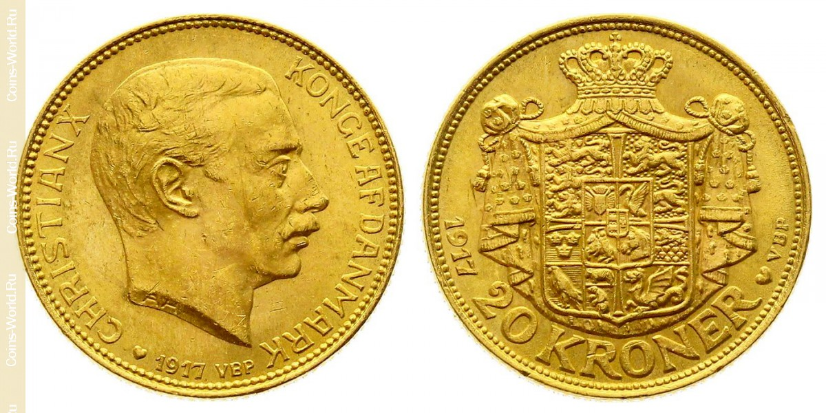 20kroner 1917, Denmark
