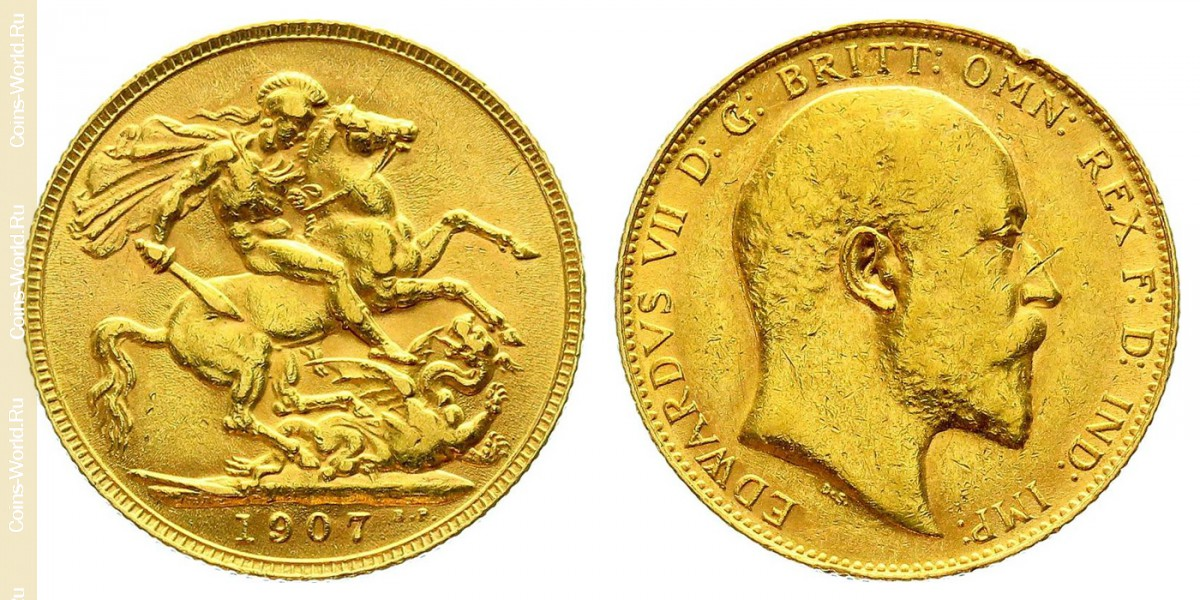 1 pound (sovereign) 1907, United Kingdom