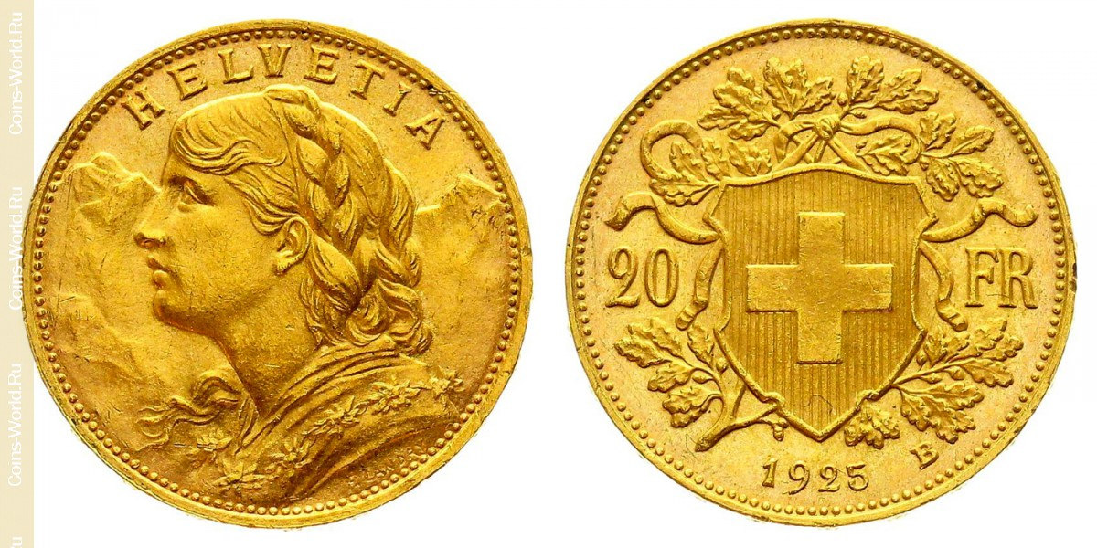 20francs 1925, Switzerland