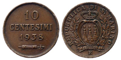 10centesimi 1938