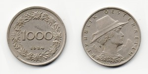 1000 крон 1924 года