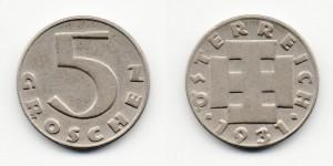5 грошей 1931 года