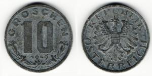 10 грошей 1949 года