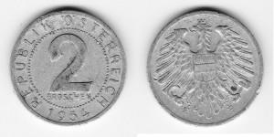 2 гроша 1954 года